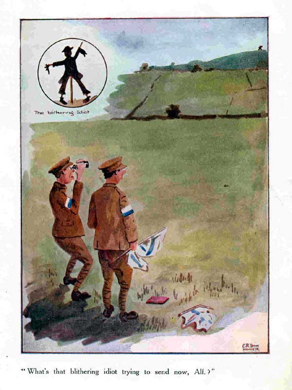 World War 1 cartoons printed for the Signals Section