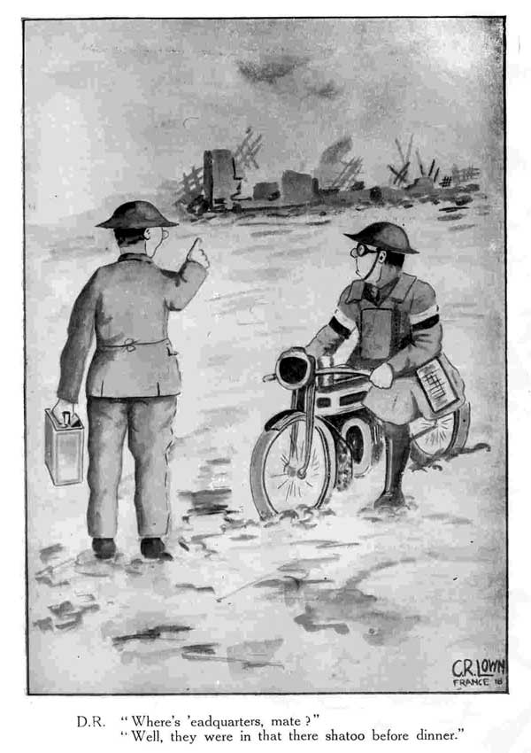 World War One cartoons printed for the Signals Section