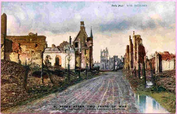 Picture of Ypres after 2 years of war